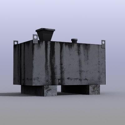 3d industrial fuel box