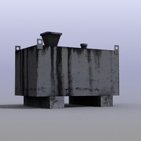 3d industrial fuel box