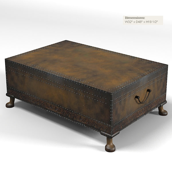 Ralph Lauren 842 40 Dalton Cocktail Coffee Table Trunk Country Classic  Traditional