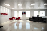 3d model complete office reception area