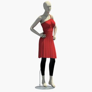 3d woman mannequin dress