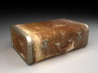 3d old suitcase