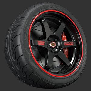 3ds max volk racing wheel te37