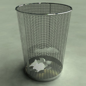 3ds trashcan paper bin