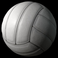 volleyball leather sports 3d model