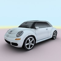 2005 new beetle ragster 3d max