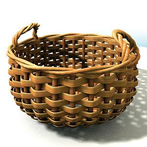 decoration basket cesta 3d model