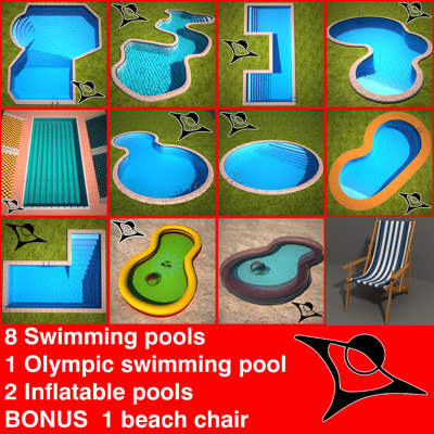 swimming pools 3d model