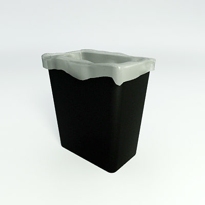 waste baskets - recycle 3d model