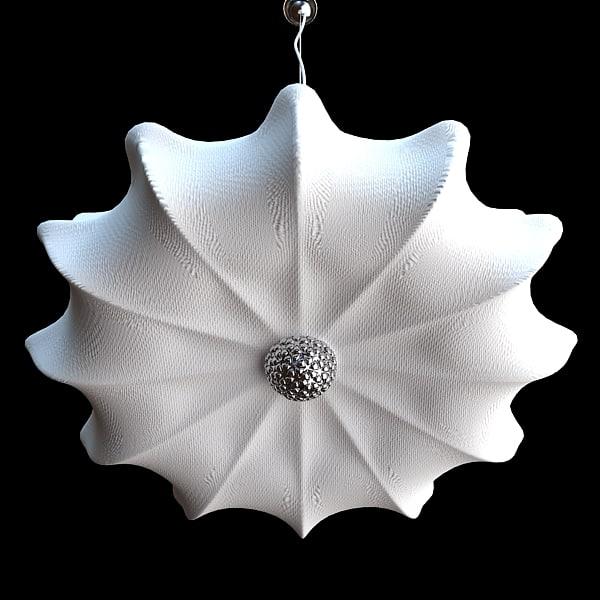 qualitative chandelier flos zeppelin 3d model