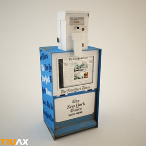 3d model of new york newspaper machine
