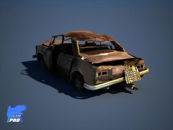 lada car heavy wreaked 3d max