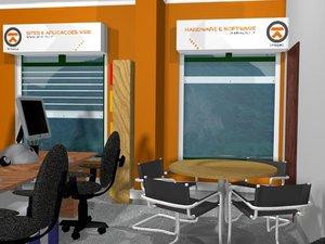 web design office 3d model
