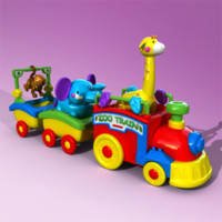 toy train 3d obj