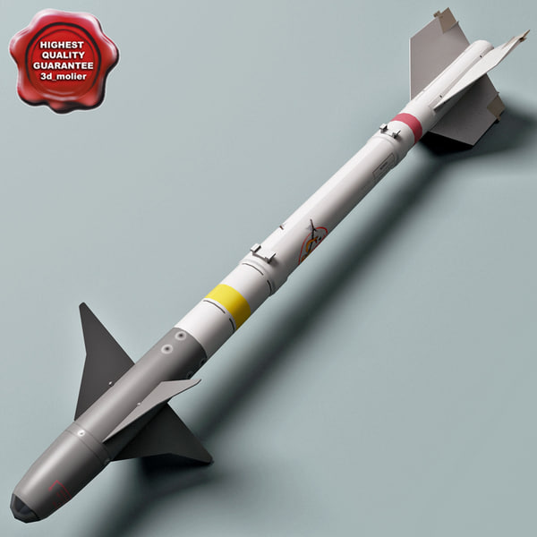 aircraft missile aim-9m sidewinder 3d model