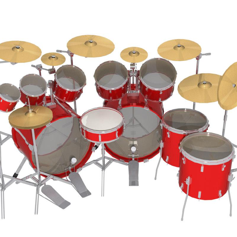 3d Metal Drum Kit