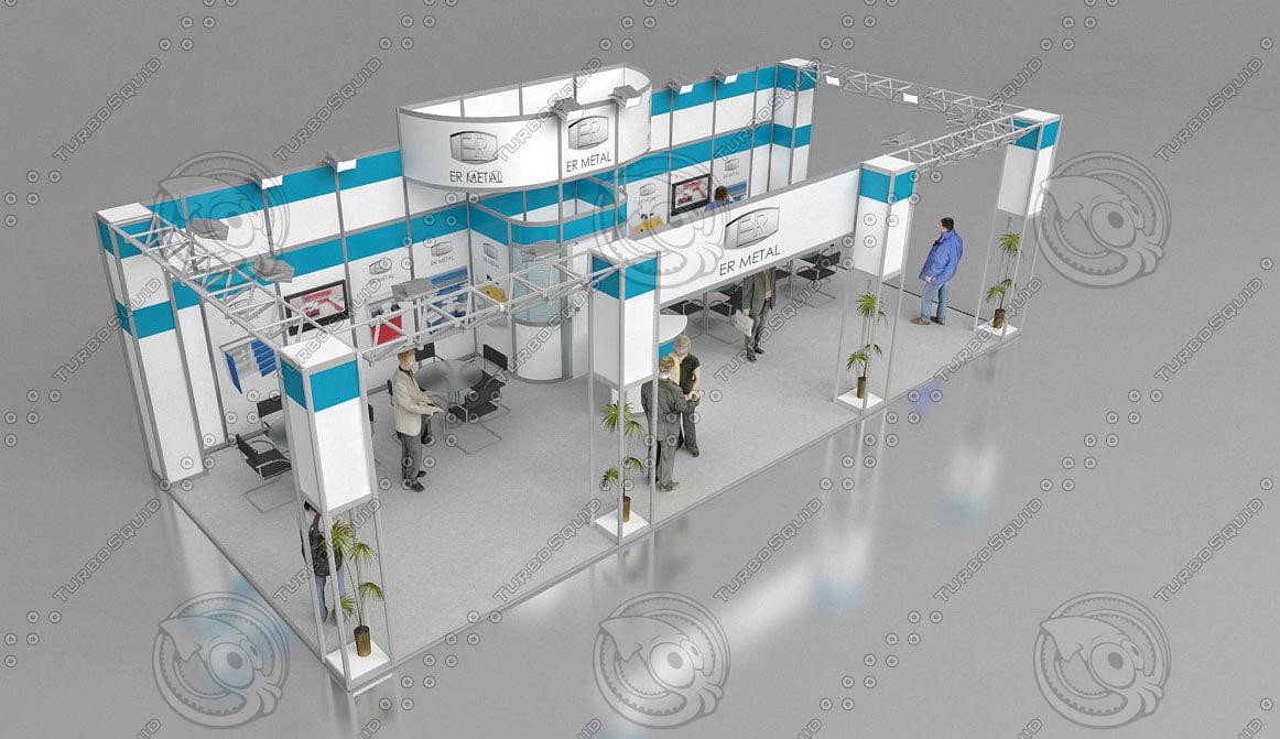 fair stand exhibition shop 3d model