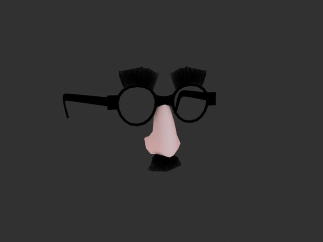 3d groucho mask model