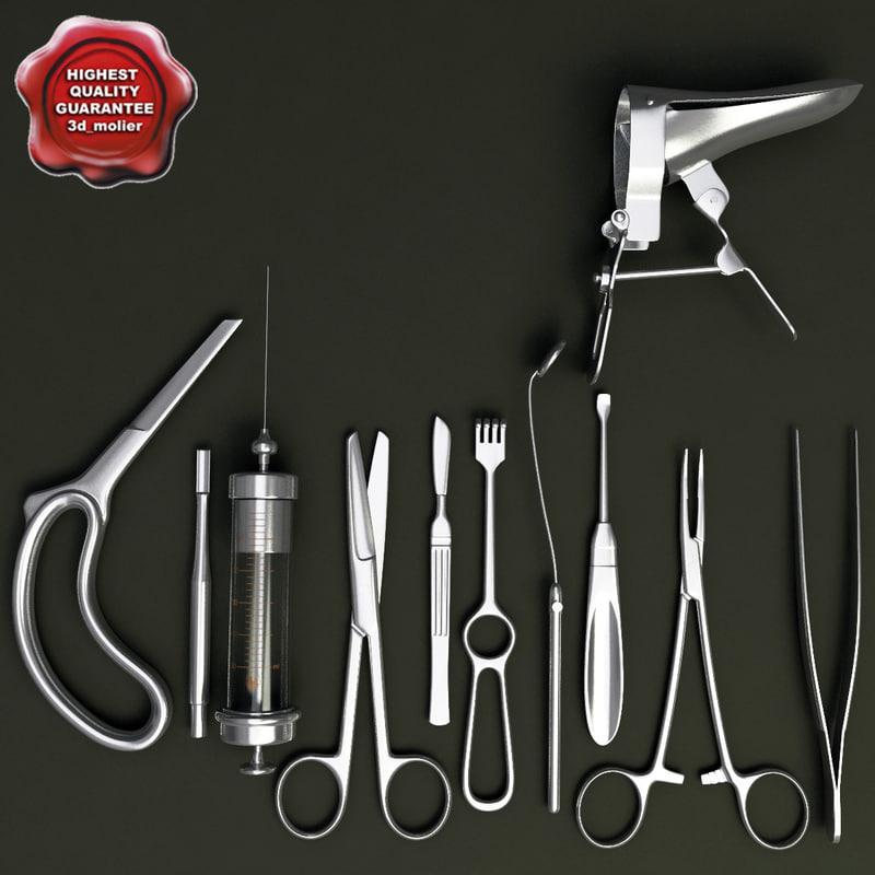 medical instruments 3d model