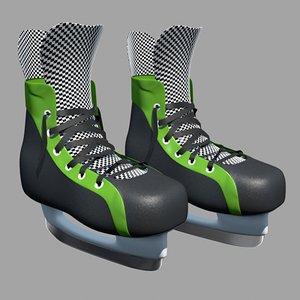 skate hockey 3d model
