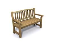 gardens bench 3d 3ds