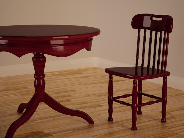 kitchen table chair 3d model