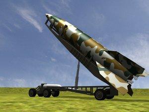 germany missile v-2 3d model