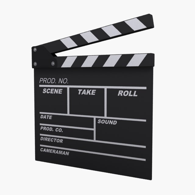 film clapper board 3d model