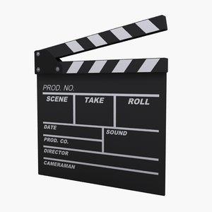 film clapper board 3d model