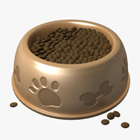 food bowls dog water 3d model