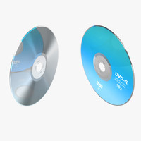 cd dvd disc 3d model
