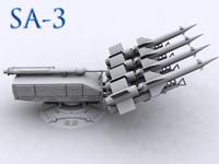 3d model of sa-3 goa artillery