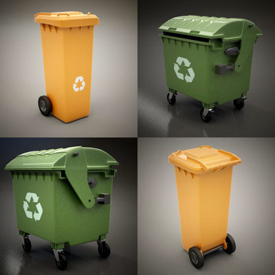 3ds max garbage containers set