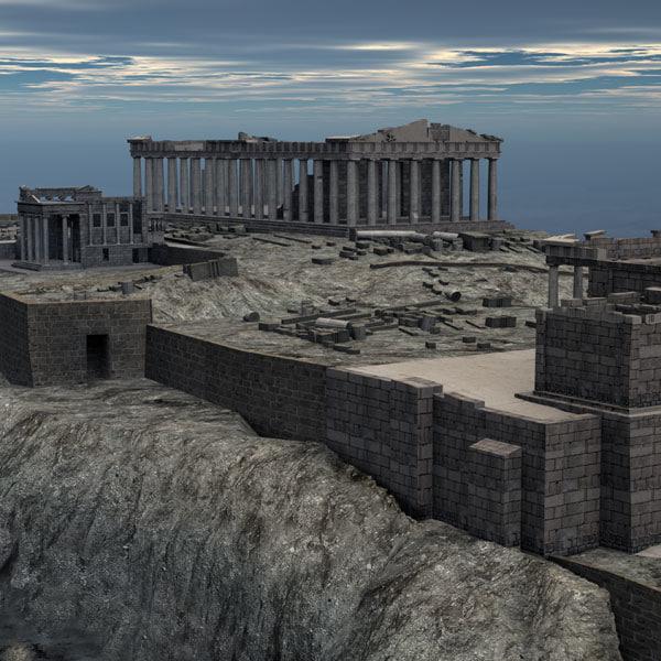 3ds max acropolis athena parthenon