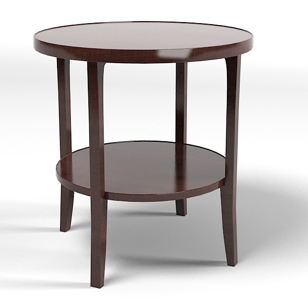 Baker Coffee Table Round: 3d Baker 4058 Bill Model