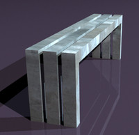 3d bench model