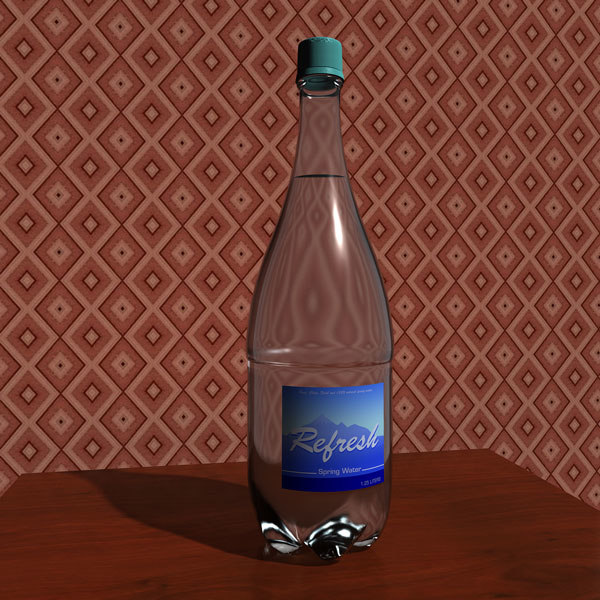 3d model bottle water