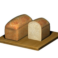 loaf sliced bread 3d model