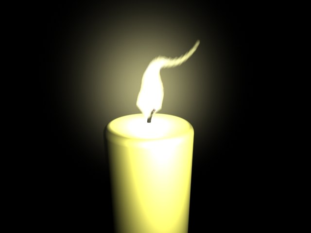 lighting candle 3d model