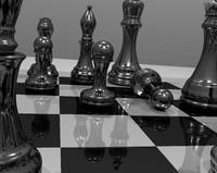 chess piece board blend