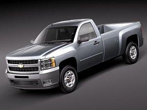 chevrolet silverado pickup truck obj