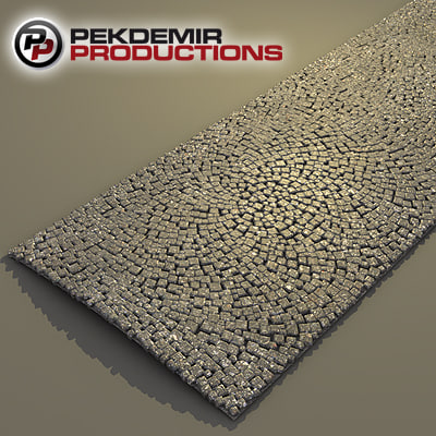 3ds max cobblestones road