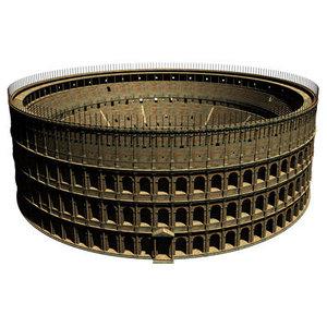 roman colosseum 3d max