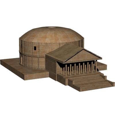 obj temple dome