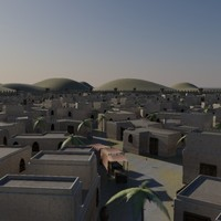 old desert city 3d model