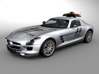 mercedes benz sls safetycar 3d 3ds