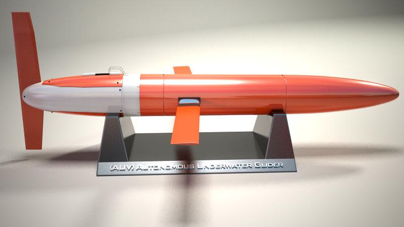 3d buoyancy-driven underwater glider autonomously model