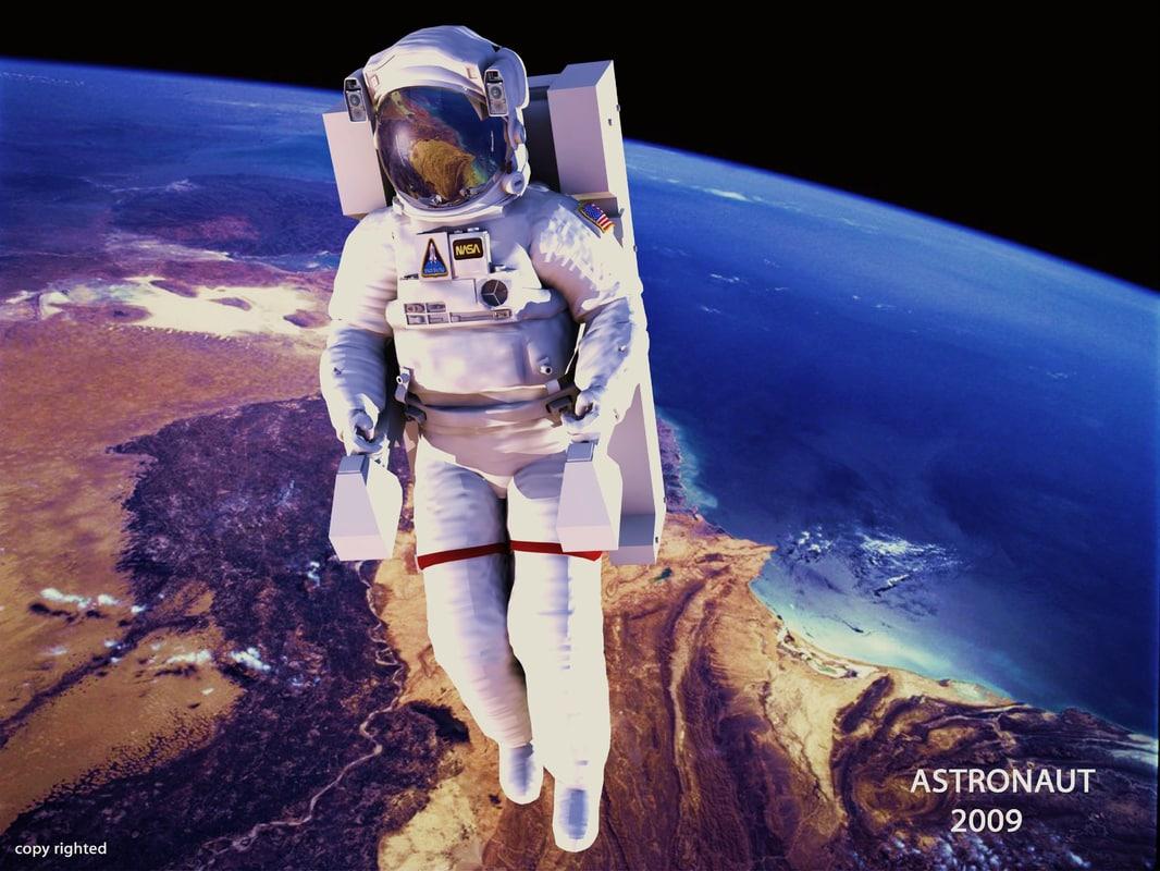human astronaut guy 3d model