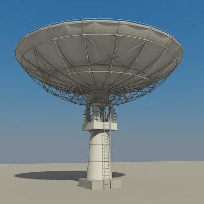 satellite dish 3d model