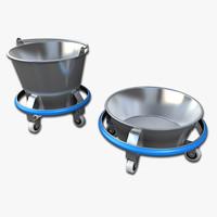 kick buckets 3d model